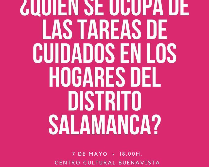 Presentación del diagnóstico del reparto de los cuidados en el Distrito Salamanca