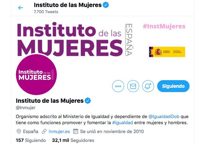 Redes sociales del Instituto de las Mujeres